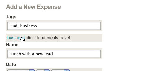 Tag expenses
